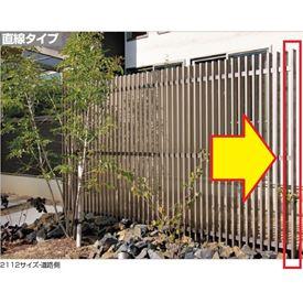 四国化成 エル パーテーションA1型 08:端柱 H18用 08EP-18SC 『樹脂フェンス 柵』 ステンカラー