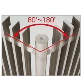 四国化成 エル パーテーションA1型 08:コーナー柱(角度80°~180°) H18用 08CP-18SC 『樹脂フェンス 柵』 ステンカラー