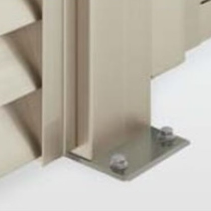 四国化成 ハイ パーテーション AM1/ASM型用 ベースプレート支柱 06:端柱 H1200用 06EPB-12SN 『樹脂フェンス 柵』 ステンカラーN