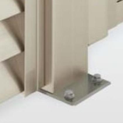 四国化成 ハイ パーテーション AM1/ASM型用 ベースプレート支柱 06:コーナー柱(角度90~180°) H1200用 06CPB-12SN 『樹脂フェンス 柵』 ステンカラーN