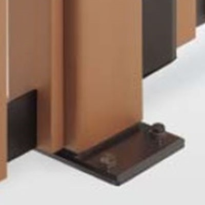 四国化成 ハイ パーテーション 1型~7型/M1型用 ベースプレート支柱 04:主柱 H1200用 04MPB-12 『樹脂フェンス 柵』