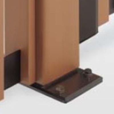 四国化成 ハイ パーテーション 1型~7型/M1型用 ベースプレート支柱 04:コーナー柱(角度90~180°) H1200用 04CPB-12 『樹脂フェンス 柵』
