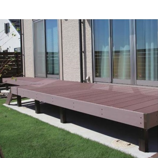 タカショー エバーエコウッド2 デッキセット (床板195mm幅仕様) 1間×9尺 『ウッドデッキ 人工木』 ホワイト