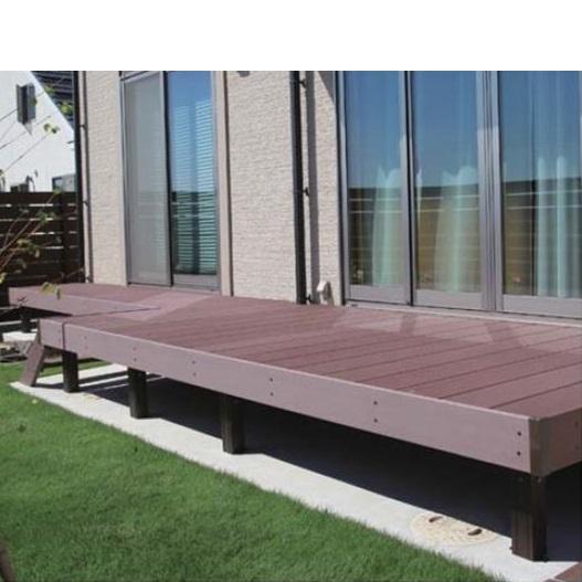 タカショー エバーエコウッド2 デッキセット (床板195mm幅仕様) 2間×4尺 『ウッドデッキ 人工木』 ホワイト