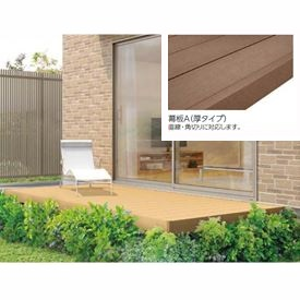 リクシル TOEX 樹ら楽ステージ 束柱Bセット(調整束) 間口2.0間×出幅9尺 幕板A仕様 *束柱の色をご指示下さい 『ウッドデッキ キット 人工木 耐久性の高い樹脂デッキ』