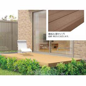 リクシル TOEX 樹ら楽ステージ 束柱Bセット(調整束) 間口2.0間×出幅12尺 幕板A仕様 *束柱の色をご指示下さい 『ウッドデッキ キット 人工木 耐久性の高い樹脂デッキ』