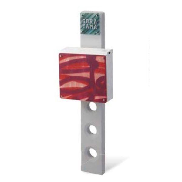 トーシン 機能門柱 ユナイト スティック VOL.10 P25-3 EP-UNITE-ST-GR(本体・表札・ポスト付きセット) 『機能門柱 機能ポール』