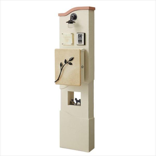 トーシン 機能門柱 アン エントレ350 ウェーブ 組合せ例 P49-2 GW-UN-ENT350W 『機能門柱 機能ポール』