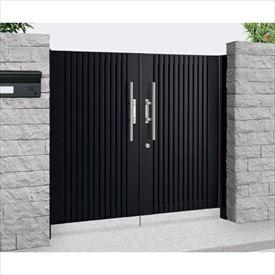 優れた品質 四国化成 アルディ門扉1型 柱仕様 0916 両開き  ブラックつや消し, アグリック d4325099