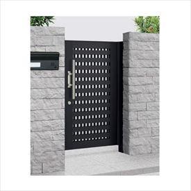 四国化成 アルディ門扉2型 柱仕様 1020 片開き  ブラックつや消し