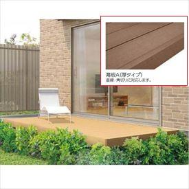 リクシル TOEX 樹ら楽ステージ 束柱Bセット(調整束) 間口3.5間×出幅8尺 幕板A仕様 *束柱の色をご指示下さい 『ウッドデッキ キット 人工木 耐久性の高い樹脂デッキ』