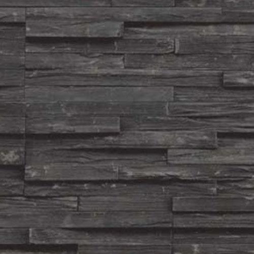 タカショー エバーアートボード 石柄 W1820×H910×t3(mm) 『外構DIY部品』 ランダムストーン ブラック