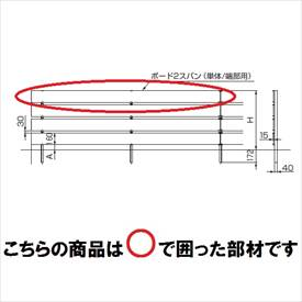 リクシル TOEX 樹ら楽ステージ ボードラインフェンス 面材 ボードセット 1500(3枚入り) 単体/端部用 1スパン 『リクシル』 『ウッドデッキ 人工木 フェンス』