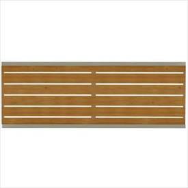 タカショー エバーアートフェンス e-横板貼 2006 フェンス本体(1枚) 『アルミフェンス 柵』 ナチュラルパイン