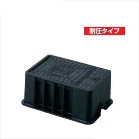 城東テクノ 散水栓ボックス 耐圧タイプ JS-4 5コ入 『外構DIY部品』 ブラック(JC)