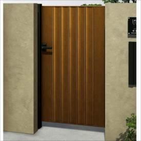 YKKAP ルシアス門扉BM01型 リブモール(鋲なし) 10-12 片開き UME-BM01 木調カラー