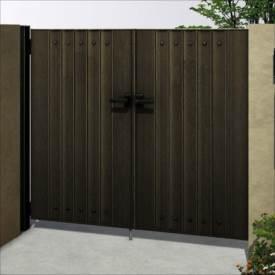 独特の上品 YKKAP ルシアス門扉BM02型 リブモール(鋲あり) 08-14 両開き 木調カラー UME-BM02 木調カラー, アシカガシ:598d09fa --- annhanco.com