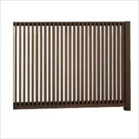 リクシル TOEX Gスクリーン 縦格子タイプ 連結本体(基本本体が別途必要です) H15 W20 『アルミフェンス 柵』 木調カラー