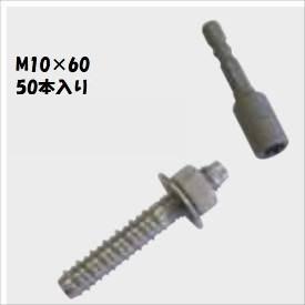 グローベン 構造部材 ステンレスアンカーボルト M10×60 50本入 A50KD1060 『外構DIY部品』