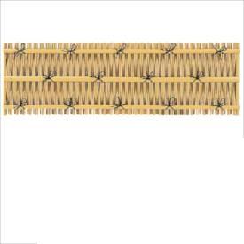 タカショー ユニットフェンスL型 大津垣フェンスL型(イエロー) H600 P-011 #22427200 『竹垣フェンス 柵』