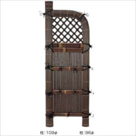 タカショー 合成竹製品 GO-14 合成竹巻虎玉袖垣 2尺/ W600×H1700 #10138200 『竹垣フェンス 柵』