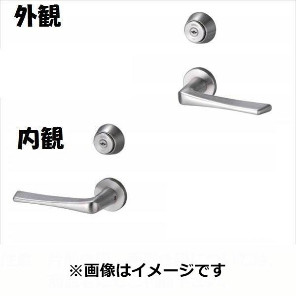 三協アルミ 形材門扉用 錠前 レバーハンドル錠 片開き用 LM-02 『単品購入価格』
