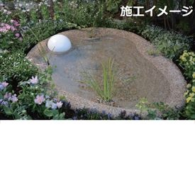 オンリーワン 「湧水の心池」 せせらぎのビオトーブ 水生植物用スポット付 レギュラータイプ 『成型池、水質浄化システム、水循環ポンプ、水位調整機能を含めたユニット商品』 『ガーデニングDIY部材』