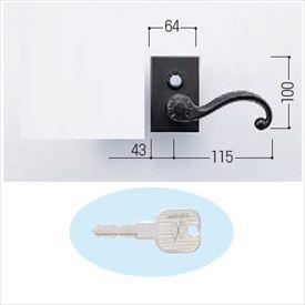 YKKAP 錠金具 ラッチ錠3型 片開き用 鍵付き MPE-JR3-S