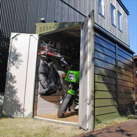 ガーデナップ メタルシェッド TM2 ペントルーフ TM2OG 『自転車・バイクの盗難対策に バイクガレージ』 オリーブグリーン