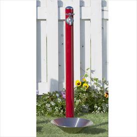 トーシン 水栓柱 コルム SC-CM11-RD 立水栓+水栓パン(受け)+蛇口セット レッド