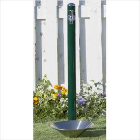 トーシン 水栓柱 コルム SC-CM11-GN 立水栓+水栓パン(受け)+蛇口セット グリーン