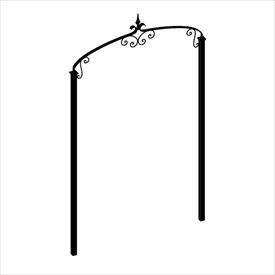 送料無料【オンリーワン】ロートアイアンと暮らす。 オンリーワン ガーデンアーチ Type03-C アーチ+支柱セット スモールサイズ NA3-AR3SC