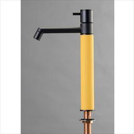 オンリーワン デザイン水栓/マニル ブラックめっき ロング TK4-1LKPG ポタージュ
