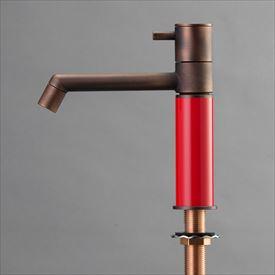オンリーワン デザイン水栓/マニル 金古美めっき ノーマル TK4-1NCR ブライトレッド