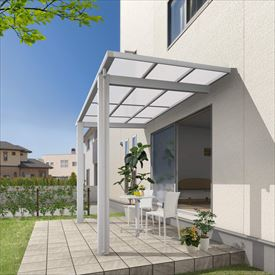 三協アルミ 独立式テラス レボリューD 3.0間×7尺 600タイプ/関東間/標準柱(H24)/2連結 熱線遮断ポリカ屋根