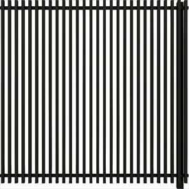 YKKAP ルシアス スクリーンフェンス S02型 連結用セット T160J (たて格子) 『アルミフェンス 柵』 2017年6月から新仕様 アルミカラー