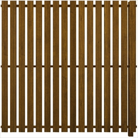 YKKAP ルシアス スクリーンフェンス S04型 連結用セット T180J (たて板格子) 『アルミフェンス 柵』 2017年6月から新仕様 木目カラー
