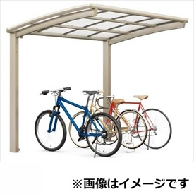 リクシル TOEX ネスカR ミニ 基本 18-29型 ロング柱(H25) ポリカーボネート屋根 『リクシル』 『自転車置場 サイクルポート 自転車屋根』
