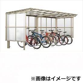 リクシル TOEX サイクルポート フーゴF パーク 22・22-18型 パネル高さ H:1600 ポリカ板 2連棟 『リクシル』 『サビに強いアルミ製 家庭用 自転車置き場 屋根』 アルミ形材色