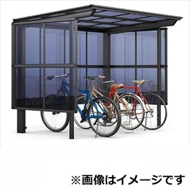 リクシル TOEX サイクルポート フーゴF パーク 22-21型 パネル高さ H:1600 熱線吸収ポリカ板 『リクシル』 『サビに強いアルミ製 家庭用 自転車置き場 屋根』 アルミ形材色