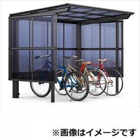 リクシル TOEX サイクルポート フーゴF パーク 22-21型 パネル高さ H:1800 熱線吸収ポリカ板 『リクシル』 『サビに強いアルミ製 家庭用 自転車置き場 屋根』 アルミ形材色