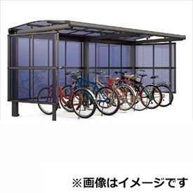 リクシル TOEX サイクルポート フーゴA パーク 22・22-21型 パネル高さ H:1800 ポリカ板 2連棟 『リクシル』 『サビに強いアルミ製 家庭用 自転車置き場 屋根』