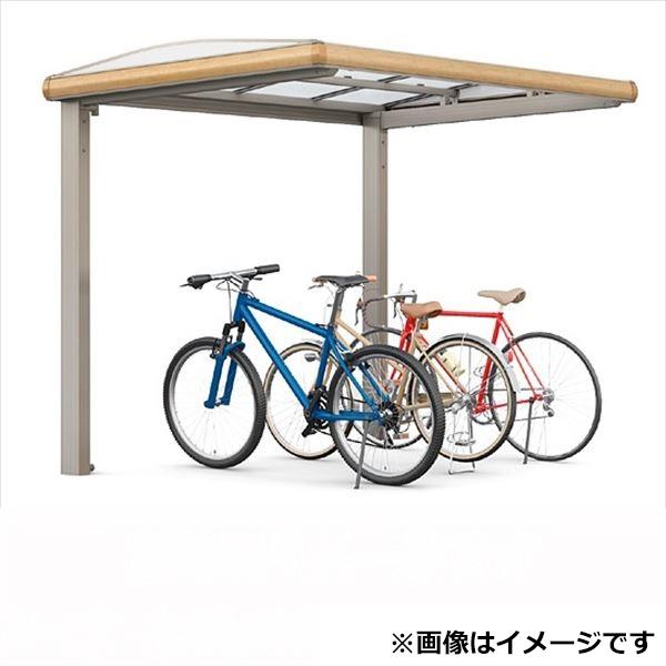 サイクルポート リクシル TOEX フーゴAプラス ミニ 基本 18-36型 標準柱(H19) ポリカ板 『リクシル』 『サビに強いアルミ製 家庭用 おしゃれ 自転車置き場 屋根』 アルミ形材色+木目色
