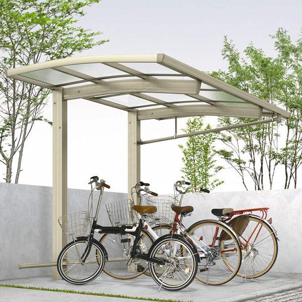 サイクルポート YKKAP レイナポートREグラン ミニ 22-21 基本セット 熱線遮断ポリカ屋根 ハイルーフ 『サビに強いアルミ製 家庭用 おしゃれ 自転車置き場 屋根』
