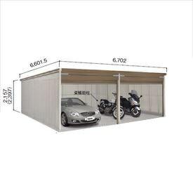 ヨドガレージ ラヴィージュ3 VGCU-3362 豪雪型 標準高タイプ 2連棟 『シャッター車庫 ガレージ』
