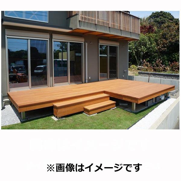 MINO ハイブリッド彩木 ガーデンデッキ 1間×5尺 高さ325~350mm ビスなしにリニューアル! 『木目にこだわった人工木デッキ ウッドデッキ 樹脂製 断熱材』