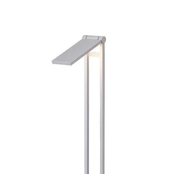 タカショー フットポールライト(ローボルト) エクスレッズ フラットポールライト2型 HBC-D09S #61817000 *LED交換不可 『エクステリア照明 ライト』 シルバー/LED色(電球色)