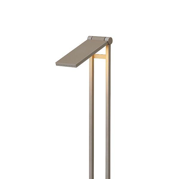 タカショー フットポールライト(ローボルト) エクスレッズ フラットポールライト2型 HBC-D09G #61909200 *LED交換不可 『エクステリア照明 ライト』 グレイッシュゴールド/LED色(電球色)