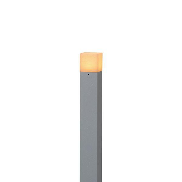 タカショー モダン和風ライト(ローボルト) 粋 ポールライト2型(ほのあかり) HGB-H08N #71623400 『エクステリア照明 ライト』 銀ねず