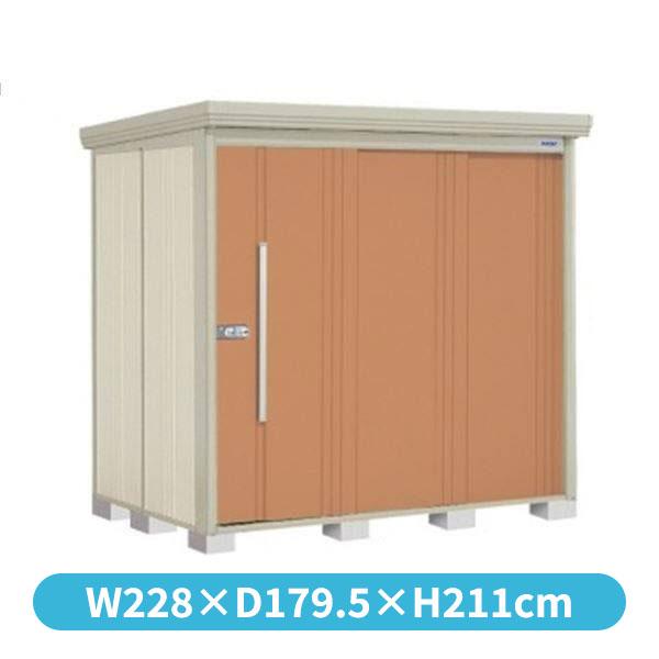 大型』 『追加金額で工事可能』 タクボ物置 側面棚 中型 倉庫 『収納庫 ND/ストックマン ND-S2215Y 多雪型 屋外 標準屋根 トロピカルオレンジ